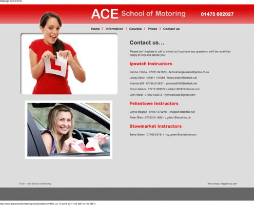 Ace School of Motoring ACE School of Motoring     contact details for driving lessons around Ispwich 495x400