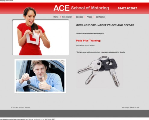 Ace School of Motoring ACE School of Motoring     discounts available on driving lessons around Ispwich 495x400