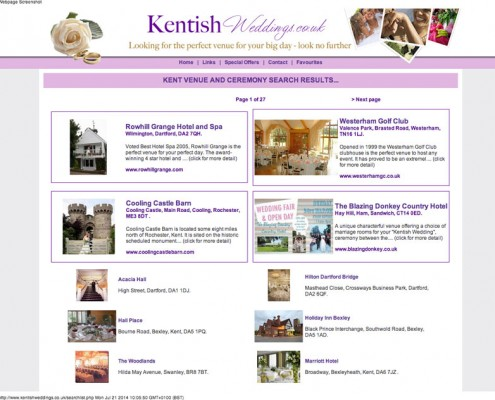 Kentish Weddings Kentish Weddings Results 495x400