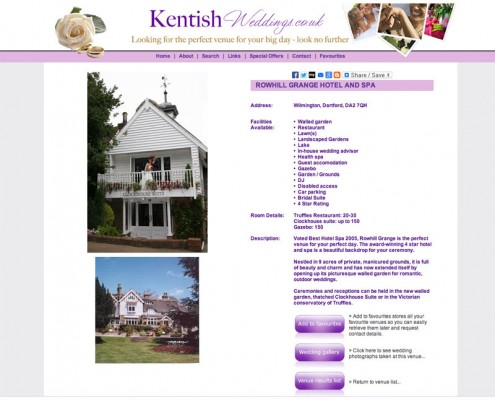 Kentish Weddings ROWHILL GRANGE HOTEL AND SPA a Kent Wedding Venue 495x400
