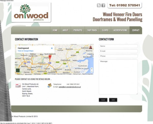 On-Wood Products Ltd Contact On Wood Products 495x400